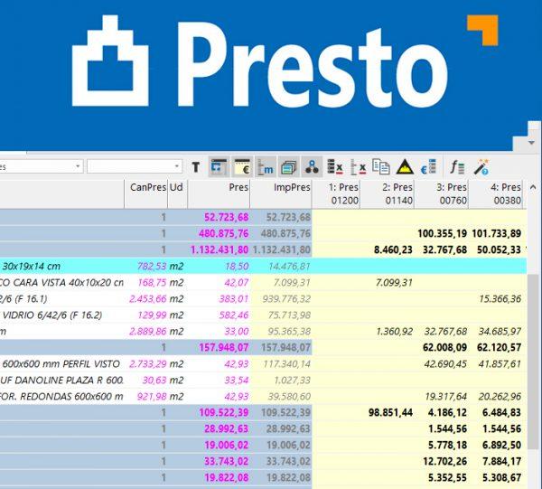 Comprar Presto 2019 Gestión Proyecto software BIM SEYS